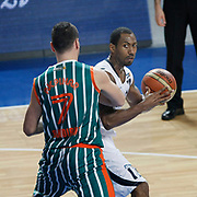 Efes Pilsen's Bootsy THORNTON (R) during their Turkish Basketball league match Efes Pilsen between Banvit at the Sinan Erdem Arena in Istanbul Turkey on Saturday 02 April 2011. Photo by TURKPIX