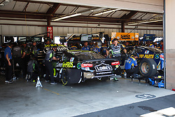 June 22, 2018 - Sonoma, CA, U.S. - SONOMA, CA - JUNE 22: The crew for Jimmie Johnson work on his car during the first practice session of the Monster Energy NASCAR Cup Series - Toyota/Save Mart 350 at Sonoma Raceway in Sonoma, CA. (Photo by Larry Placido/Icon Sportswire) (Credit Image: © Larry Placido/Icon SMI via ZUMA Press)
