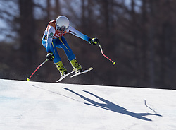 February 17, 2018 - PyeongChang, South Korea - ELVEDINA MUZAFERIJA of Bosnia and Herzegovina during Alpine Skiing: Ladies Super-G at Jeongseon Alpine Centre at the 2018 Pyeongchang Winter Olympic Games. (Credit Image: © Patrice Lapointe via ZUMA Wire)
