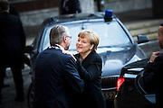 Angela Merkel arrives at The Nobel Peace Prize ceremony in Oslo.