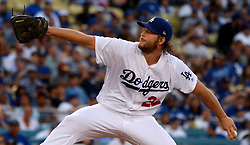 June 24, 2017 - Los Angeles, California, U.S. - Los Angeles Dodgers starting pitcher Clayton Kershaw throws to the plate against the Colorado Rockies in the first inning of a Major League baseball game at Dodger Stadium on Saturday, June 24, 2017 in Los Angeles. Los Angeles. (Photo by Keith Birmingham, Pasadena Star-News/SCNG) (Credit Image: © San Gabriel Valley Tribune via ZUMA Wire)