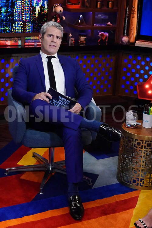 WATCH WHAT HAPPENS LIVE WITH ANDY COHEN -- Episode 18160 -- Pictured: Andy Cohen -- (Photo by: Charles Sykes/Bravo)