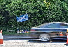Memorial to fireball victim, Edinburgh 28 May 2018