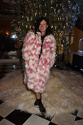 Katie Grand at reception to celebrate the launch of the Claridge's Christmas Tree 2017 at Claridge's Hotel, Brook Street, London England. 28 November 2017.<br /> Photo by Dominic O'Neill/SilverHub 0203 174 1069 sales@silverhubmedia.com