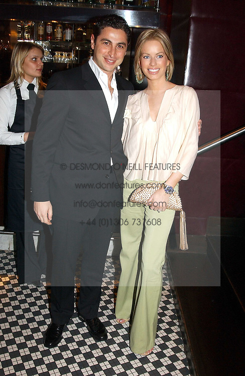 CEM & CAROLINE HABIB at a fund raising dinner hosted by Marco Pierre White and Frankie Dettori's in aid of Conservative Party's General Election Campaign Fund held at Frankie's No.3 Yeoman's Row,æLondon SW3 on 17th January 2005.<br /><br />NON EXCLUSIVE - WORLD RIGHTS