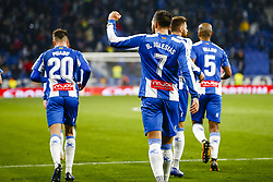 January 17, 2019 - Barcelona, Catalonia, Spain - Borja Iglesias (7) of RCD Espanyol with his teammates of RCD Espanyol celebrates after scoring the goal during the match RCD Espanyol v Villarreal CF, for the round of 16 of the Copa del Rey played at Camp Nou  on 17th January 2019 in Barcelona, Spain. (Credit Image: © Mikel Trigueros/NurPhoto via ZUMA Press)