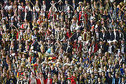 Nederland, Nijmegen, 7-2-2015In cultuurspinnerij de Vasim werd door de Gelderlander het traditionel Prinsentreffen georganiseerd. 447 carnavalsprinsen en -prinsessen zijn gezamenlijk op de foto gegaan,  tijdens het door De Gelderlander georganiseerde Prinsentreffen 2015. Met de foto hebben zij samen gezorgd voor een wereldrecord, dat naar alle waarschijnlijkheid wordt opgenomen in het Guinness Book of World Records. Een vrouwlijke notaris was getuige en liet de nummers uitdelen.FOTO: FLIP FRANSSEN/ HOLLANDSE HOOGTE