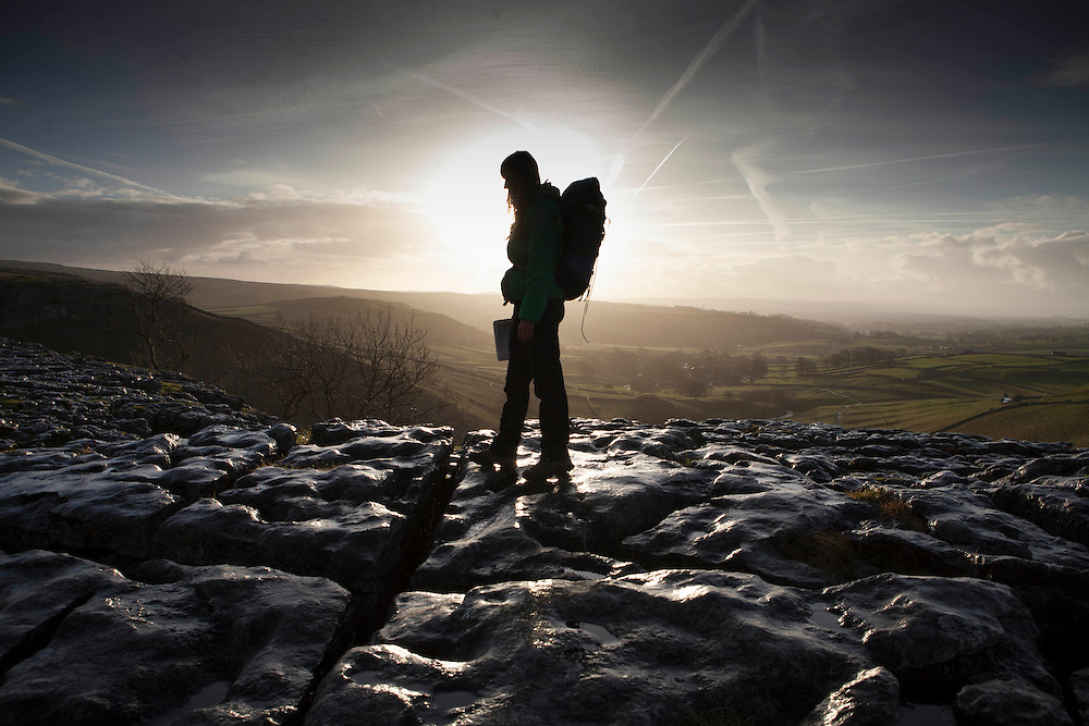 Dec 2014 Malham to Horton in Ribblesdale Ramblers Walk in Depth with Hanna Lindon