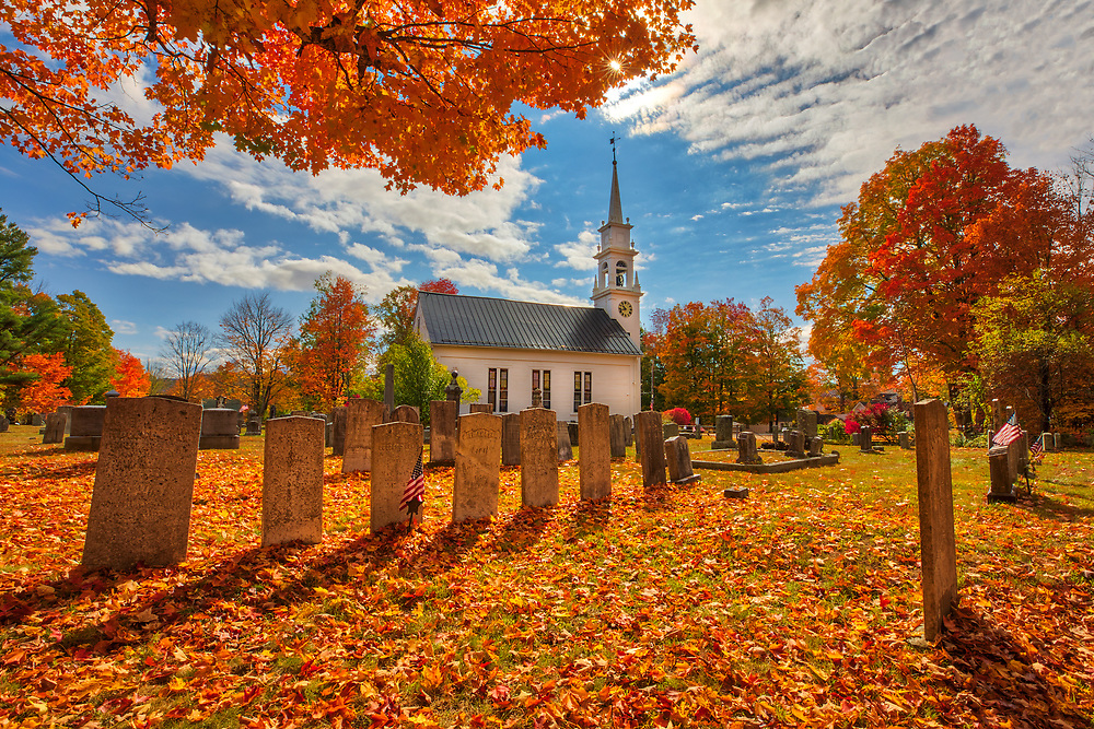 New England fall foliage photography of the historic white steeple Community Church of Sandwich in the Squam Lake region of New Hampshire.<br /> <br /> New Hampshire White Mountains fall foliage photography images of the white steeple Community Church in Sandwich are available as museum quality photo, canvas, acrylic, wood or metal prints. Wall art prints may be framed and matted to the individual liking and interior design decoration needs:<br /> <br /> https://juergen-roth.pixels.com/featured/new-england-fall-foliage-at-the-community-church-juergen-roth.html<br /> <br /> Contact Juergen directly for photo wall art murals.<br /> <br /> Good light and happy photo making!<br /> <br /> My best,<br /> <br /> Juergen