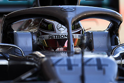 February 18, 2019 - Barcelona, Catalonia, Spain - Lewis Hamilton of Great Britain driving the (44) Mercedes AMG Petronas F1 Team Mercedes W10 during day one of F1 Winter Testing at Circuit de Catalunya on February 18, 2019 in Montmelo, Spain. (Credit Image: © Jose Breton/NurPhoto via ZUMA Press)
