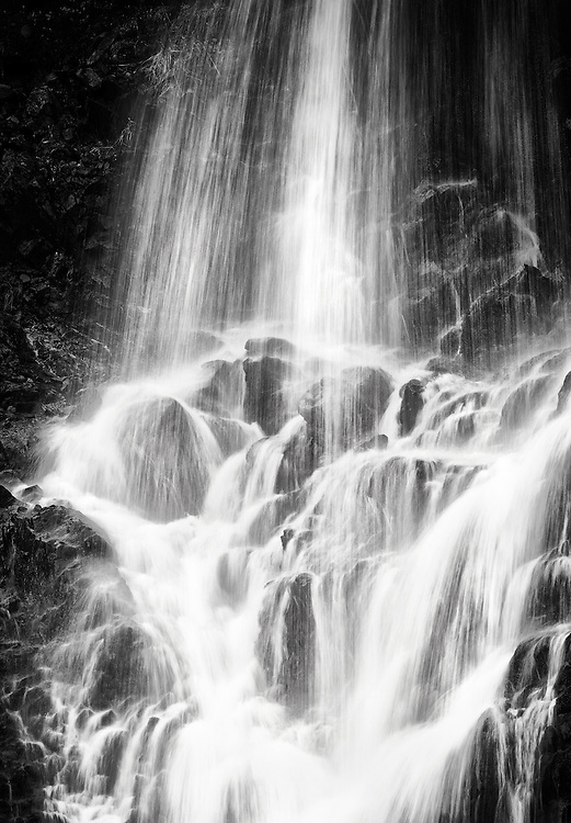 Norway - Waterfall in Sør-Tverrfjord BW