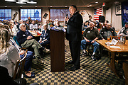 26 MARCH 2021 - URBANDALE, IOWA: MIKE POMPEO, former Secretary of State during the Trump Administration, speaks during the Westside Conservative Club meeting at the Machine Shed Restaurant. Pompeo, who served as the Director of the CIA and Secretary of State in the Trump Administration, spoke to about 200 people during the Westside Conservative Club meeting at the Machine Shed Restaurant in Urbandale, IA, Friday morning. Pompeo, who is often mentioned as a possible Republican presidential candidate in 2024, did not talk about any plans to run for President, spending most of the time talking about what he thought were the foreign policy accomplishment of the Trump Administration and encouraging Republicans to tighten voting rules.     PHOTO BY JACK KURTZ