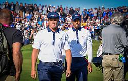 September 29, 2018 - St Quentin En Yvelines, France - Tiger Woods ( USA ) - Bryson Dechambeau  (Credit Image: © Panoramic via ZUMA Press)