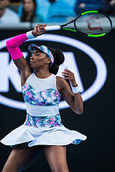 January 19, 2019 - Melbourne, VIC, U.S. - MELBOURNE, VIC - JANUARY 19: VENUS WILLIAMS (USA) during day six match of the 2019 Australian Open on January 19, 2019 at Melbourne Park Tennis Centre Melbourne, Australia (Photo by Chaz Niell/Icon Sportswire) (Credit Image: © Chaz Niell/Icon SMI via ZUMA Press)