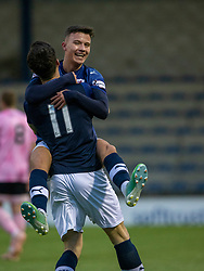 Raith Rovers Dylan Tait celebrates after scoring their first goal. Raith Rovers 2 v 1 Peterhead, Scottish Football League Division One played 4/1/2020 at Stark's Park, Kirkcaldy.