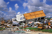damage caused to mobile home park by Hurricane Andrew, <br /> August 1992, Florida City, near Homestead, South Florida, USA
