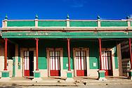 Green and red in Gibara, Holguin, Cuba.