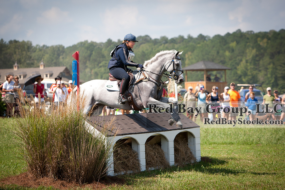 Becky Holder and Courageous Comet at the 2012 Nutrena USEA American Eventing Championships in Fairburn, Georgia.