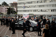 Italian former Prime Minister Silvio Berlusconi, leaves after the People of Freedom (PDL) party's national convention. Rome, 16 November 2013. Christian Mantuano / OneShot