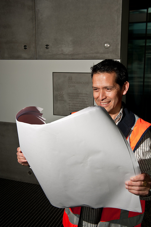 Portrait of Carlos Gonzales, Architect, Wellington City Council for use in the Annual Report 2011, Urban Development section.