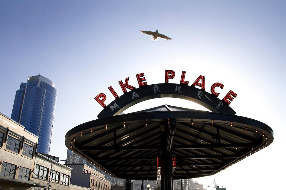 Pike St Market, Seattle, WA ,Elliott Bay