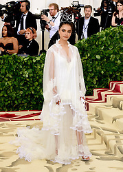 Sasha Lane attending the Metropolitan Museum of Art Costume Institute Benefit Gala 2018 in New York, USA