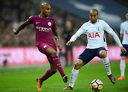 Fabian Delph of Manchester City - Mandatory by-line: Alex James/JMP - 14/04/2018 - FOOTBALL - Wembley Stadium - London, England - Tottenham Hotspur v Manchester City - Premier League