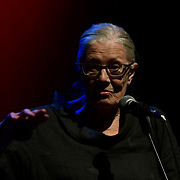 Speaker Vanessa Redgrave at the Just Say No - Artists Against Trump & War host by Stop the War Coalition, Trump is not welcome in the UK at The Shaw Theatre on 8th July 2018.
