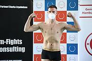 Boxen: Giants Professional Boxing, Session 3, Waage, Hamburg, 16.04.2021<br /> Alexander Pavlov (GER)<br /> © Torsten Helmke