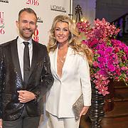 NLD/Amsterdam/20160118 -  Beau Monde Awards 2016, Brigitte Nijman en Rolf Koster