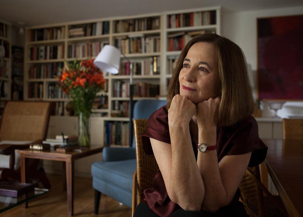 Mexico City, Mexico, February 4, 2019. Mexican writer Mónica Lavín.<br /><br /><br />Città del Messico, Messico, 4 febbraio 2019. La scrittrice Messicana Mónica Lavín.