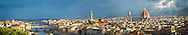 Panoramic view of Florence and the Ponte Vecchio, the Palazzio Vecchio and The Duomo, Italy .<br /> <br /> Visit our ITALY PHOTO COLLECTION for more   photos of Italy to download or buy as prints https://funkystock.photoshelter.com/gallery-collection/2b-Pictures-Images-of-Italy-Photos-of-Italian-Historic-Landmark-Sites/C0000qxA2zGFjd_k<br /> .<br /> <br /> Visit our MEDIEVAL PHOTO COLLECTIONS for more   photos  to download or buy as prints https://funkystock.photoshelter.com/gallery-collection/Medieval-Middle-Ages-Historic-Places-Arcaeological-Sites-Pictures-Images-of/C0000B5ZA54_WD0s