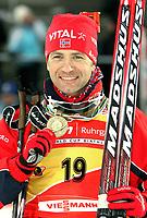 Skiskyting<br /> VM 2008<br /> Östersund Sverige<br /> 09.02.2008<br /> Sprint<br /> Foto: Gepa/Digitalsport<br /> NORWAY ONLY<br /> <br /> Ole Einar Bjørndalen (NOR)