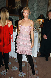 TAMARA BECKWITH at a dinner hosted by Krug champagne at Claridge's, Brooke Street, London on 14th February 2006.<br />