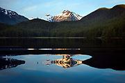 Bay and reflections, near Sitka, Alaska
