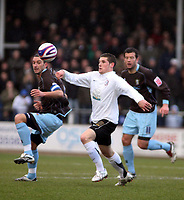 Photo: Mark Stephenson/Richard Lane Photography. <br /> Hereford United v Bury. Coca-Cola League Two. 21/03/2008. Herford's Gary Hooper with the ball
