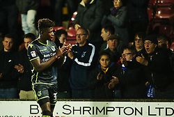 Bristol Rovers fans applaud Rollin Menayese and team mates at full time - Mandatory by-line: Matt McNulty/JMP - 11/11/2017 - FOOTBALL - Glanford Park - Scunthorpe, England - Scunthorpe United v Bristol Rovers - Sky Bet League One