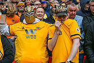 Wolverhampton Wanderers fans during the The FA Cup semi-final match between Watford and Wolverhampton Wanderers at Wembley Stadium, London, England on 7 April 2019.