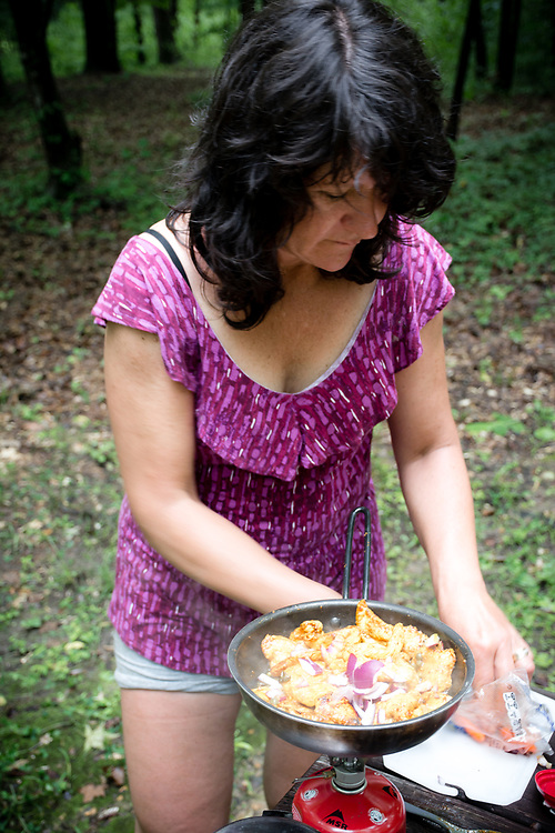 Anne-Marie is a famous cook in camping