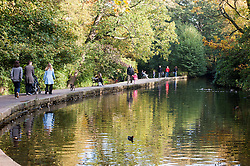 People enjoying the autumn sun in Endcliffe Park Sheffield<br /> 21 October 2012<br /> Image © Paul David Drabble