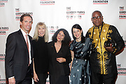 NEW YORK, NEW YORK-JUNE 4: (L-R) Peter W. Kunhardt, Jr., Executive Director, Gordon Parks Foundation, Diana Revson, Board Member, Gordon Parks Foundation, Photographer Janette Beckman, Guest and Photographer Jamel Shabazz attend the 2019 Gordon Parks Foundation Awards Dinner and Auction Red Carpet celebrating the Arts & Social Justice held at Cipriani 42nd Street on June 4, 2019 in New York City.  (photo by terrence jennings/terrencejennings.com)