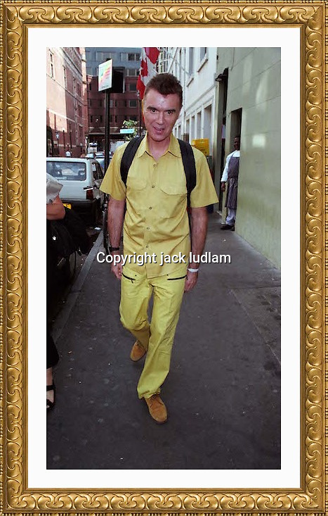 David Byrne Sept 1999 Soho London