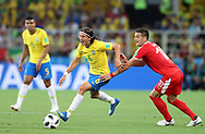 Filipe Luis of Brazil and Dusan Tadic of Serbia during the 2018 FIFA World Cup Russia, Group E football match between Erbia and Brazil on June 27, 2018 at Spartak Stadium in Moscow, Russia - Photo Tarso Sarraf / FramePhoto / ProSportsImages / DPPI