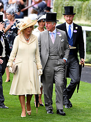 The Duchess of Cornwall, The Prince of Wales and the Duke and Duchess of Sussex during day one of Royal Ascot at Ascot Racecourse