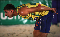 Andrej Flajs (EMA TV Team) at qualifications for 14th National Championship of Slovenia in Beach Volleyball and also 4th tournament of series TUSMOBIL LG presented by Nestea, on July 25, 2008, in Kranj, Slovenija. (Photo by Vid Ponikvar / Sportal Images)/ Sportida)