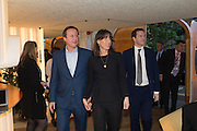 DAVID CAMERON, ; SAMANTHA CAMERON; GEOFFREY OSBORNE,  Launch of ' More Human',  Designing a World Where People Come First' by Steve Hilton. Party held at Second Home in Princelet St, off Brick Lane, London. 19 May 2015.