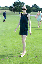 KAREN GILLAN at the Audi Polo Challenge 2013 at Coworth Park Polo Club, Berkshire on 3rd August 2013.