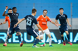 Tine Kavcic of Gorica vs Aghvan Davoyan of Shirak during 2nd Leg football match between ND Gorica and FC Shirak in 1st Qualifying Round of UEFA Europa League 2017/18, on July 6, 2017 in Nova Gorica, Slovenia. Photo by Vid Ponikvar / Sportida