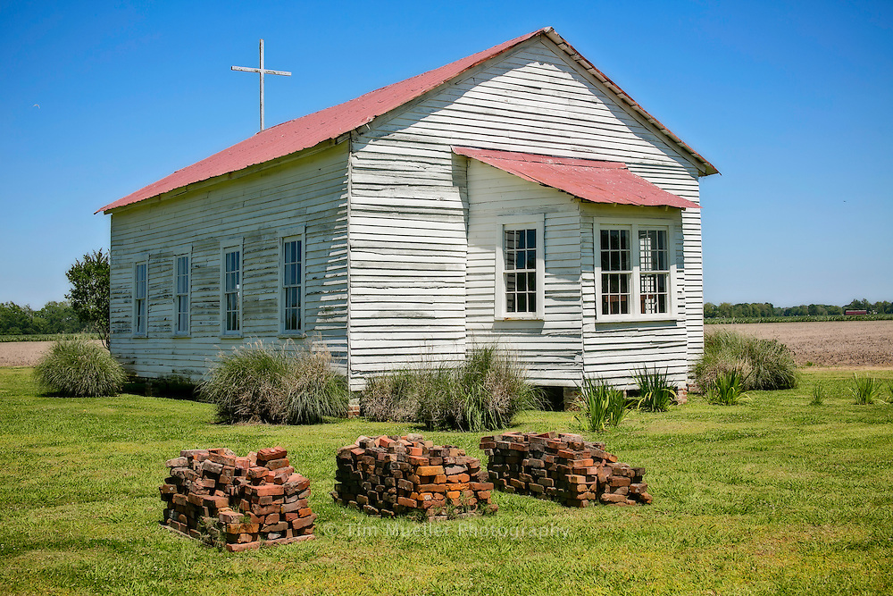 An 1800's plantation church with original pews is part of the Frogmore Plantation Delta Music Tour. The plantation is both a modern day cotton farm and a historic site representing life on a cotton farm in the 1800's. The farm and museum is located just west of Ferriday, Louisiana.