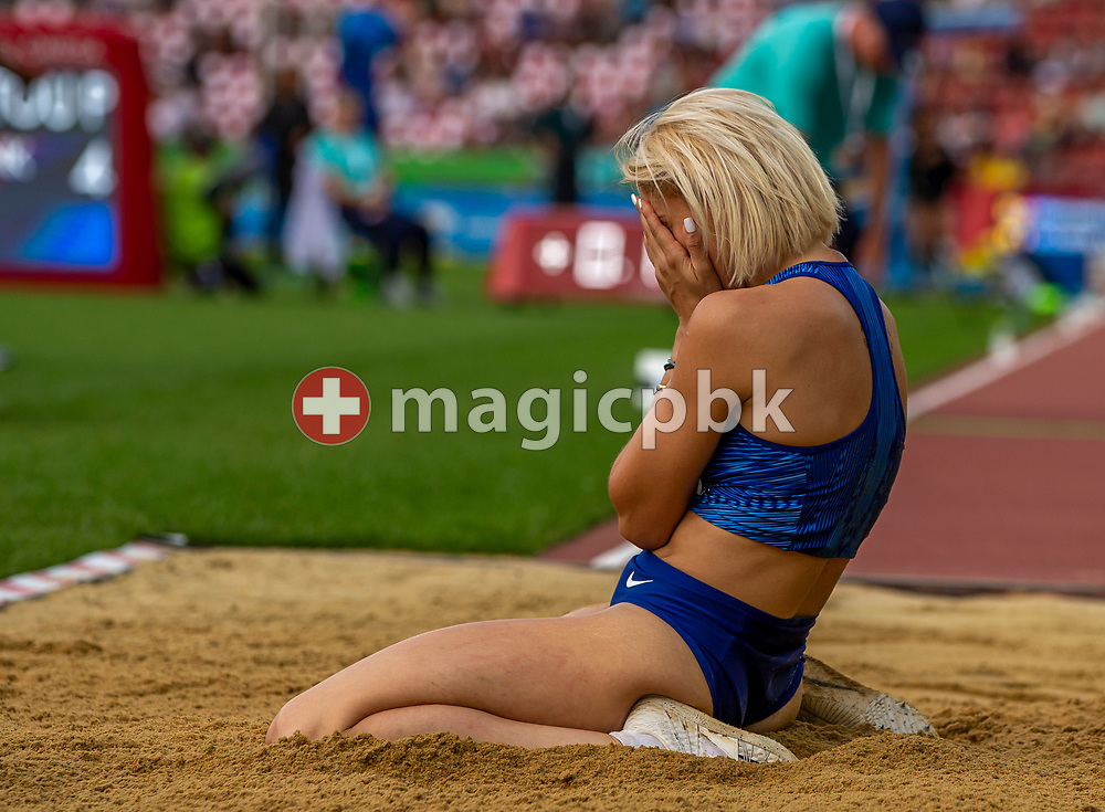 Paraskevi PAPACHRISTOU of Greece competes in the Women's Triple Jump during the Iaaf Diamond League meeting (Weltklasse Zuerich) at the Letzigrund Stadium in Zurich, Switzerland, Thursday, Aug. 29, 2019. (Photo by Patrick B. Kraemer / MAGICPBK)